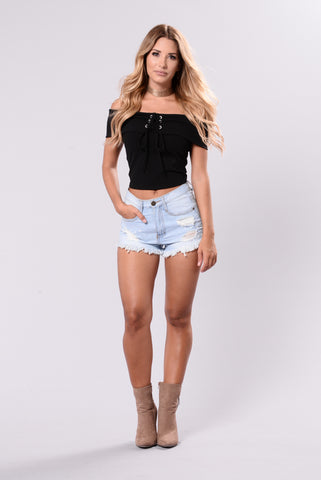 Crop It Up Top - Black