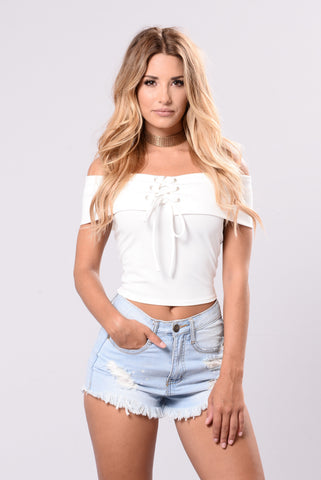 Crop It Up Top - White