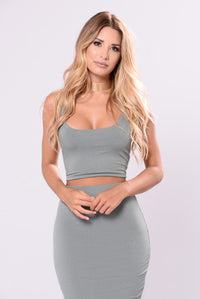 Baby Spice Tank Top - Sage
