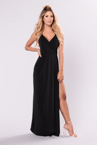 Angelina Dress - Black Angle 5