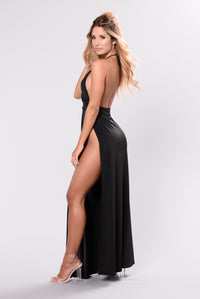 Angelina Dress - Black Angle 8