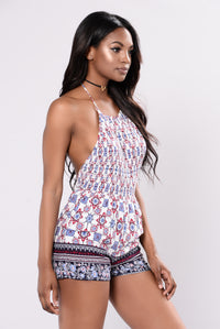 Pretty Words Romper - White