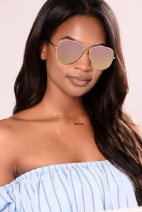 Hawaii Sunglasses - Gold/Purple