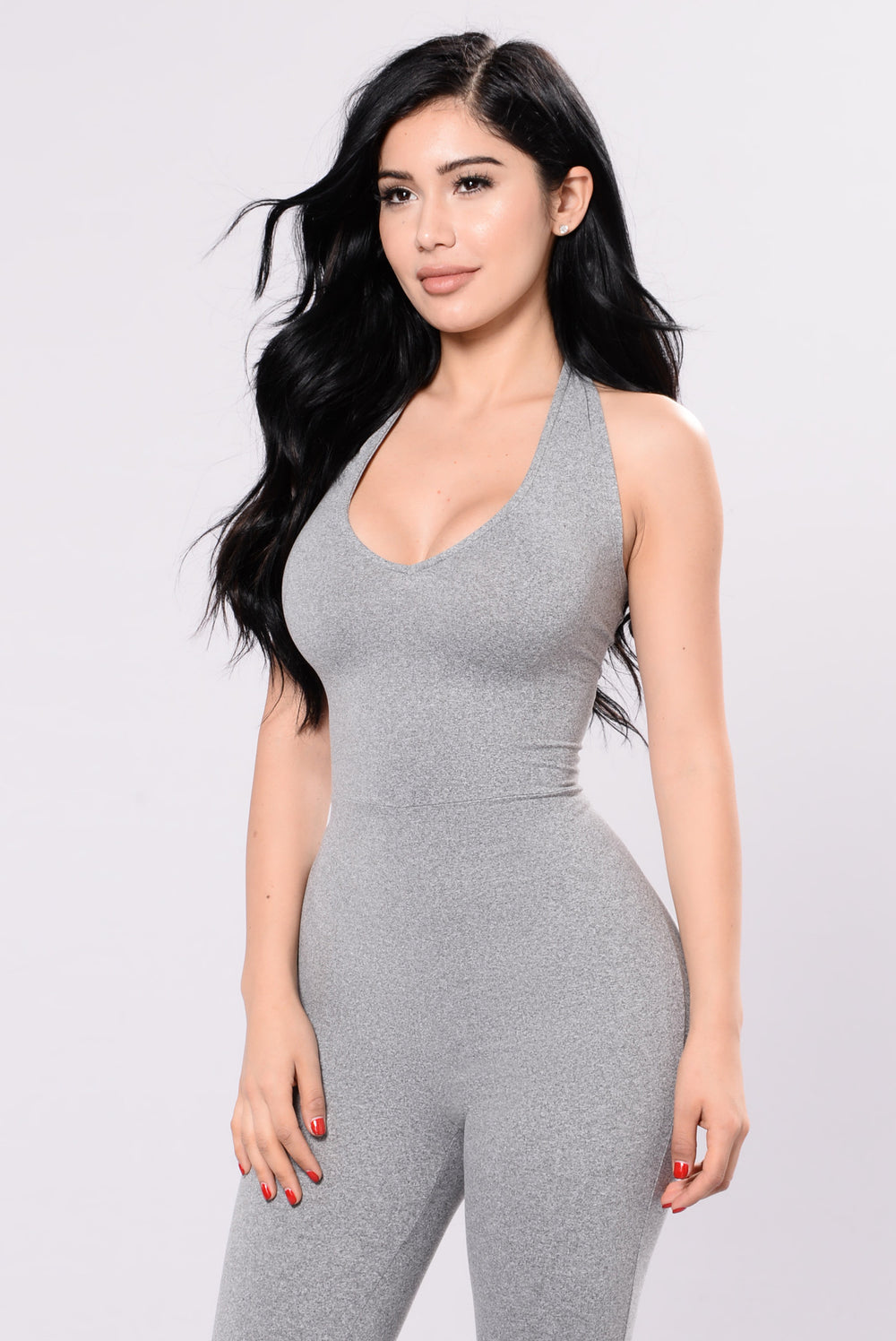 Never Unnoticed Jumpsuit - Heather Grey