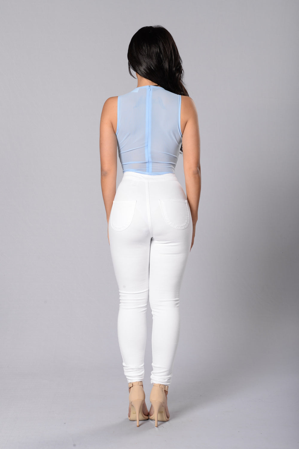 Beautiful Disaster Bodysuit - Pale Blue
