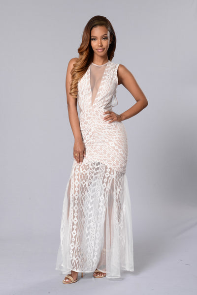 Black Tie Event Dress - White