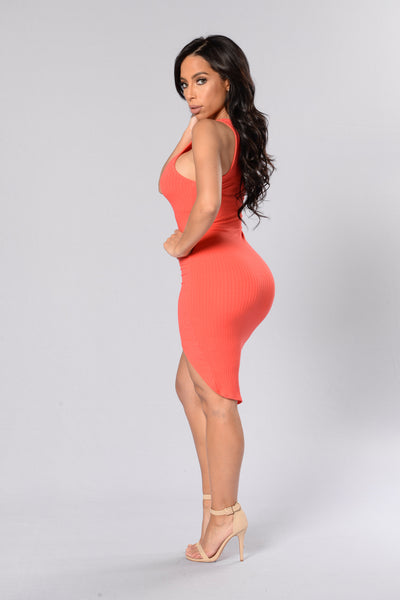 Gold Coast Dress - Tomato