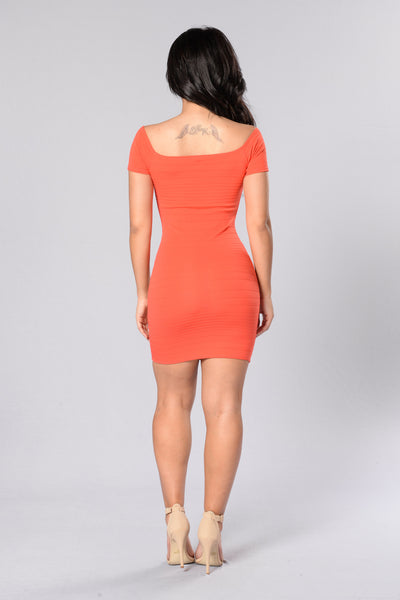 Love Me Mini Dress - Tomato
