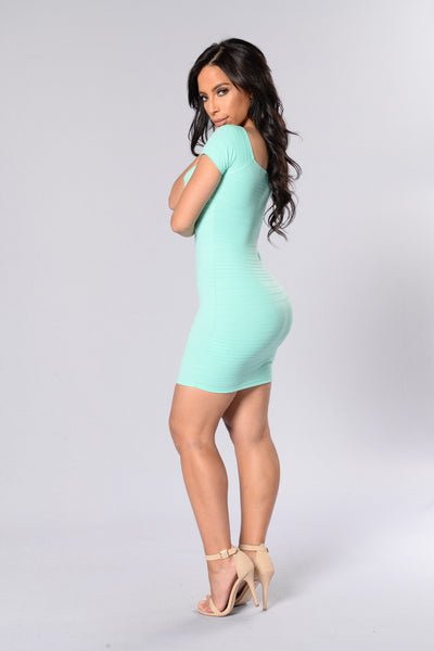 Love Me Mini Dress- Mint