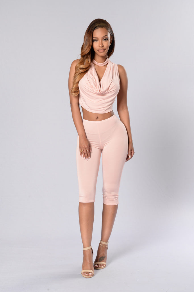 Under Control Crop Legging - Blush