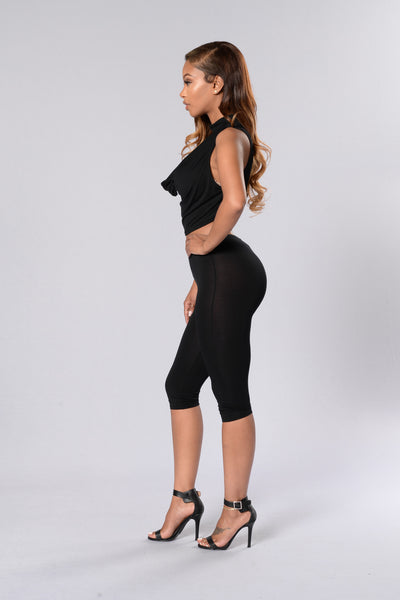 Under Control Crop Legging - Black