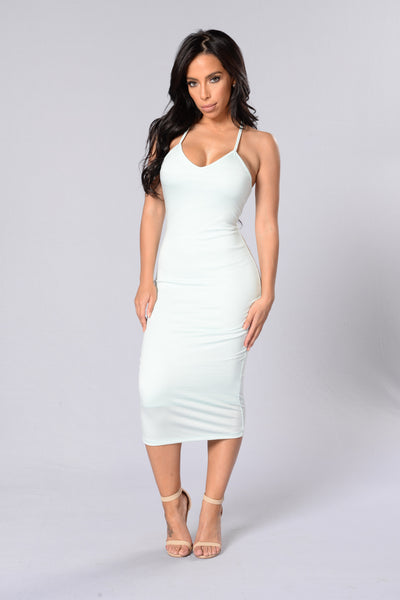 Simply Strappy Dress - Mint