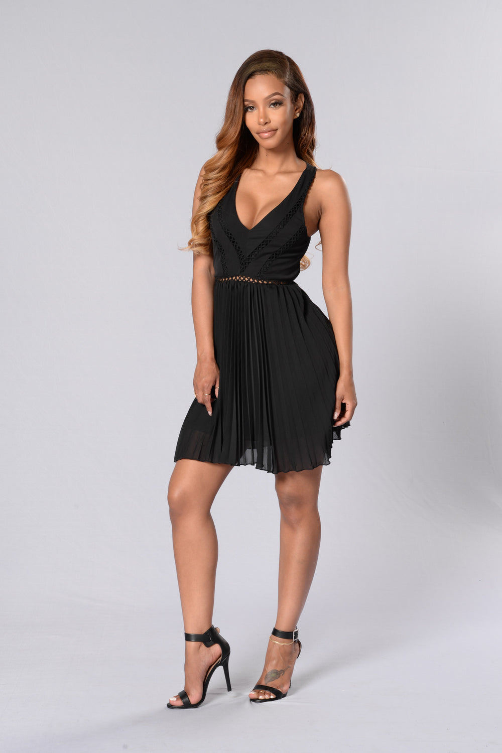 Fine Tune Dress - Black