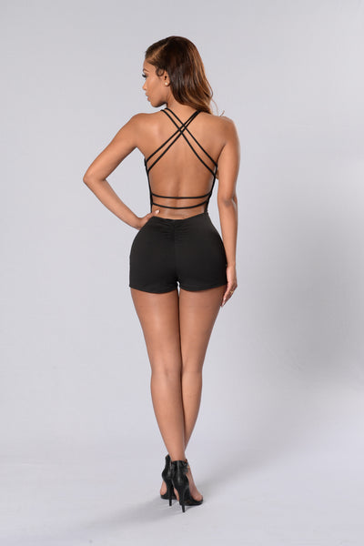 Poison Romper - Black