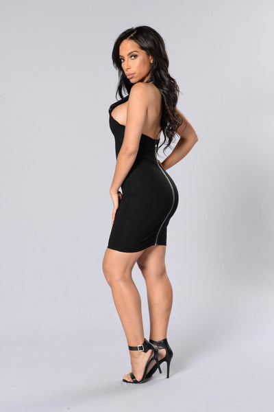 Haltered to Perfection Dress - Black