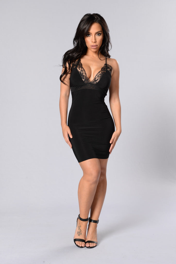 Sleep On It Dress - Black