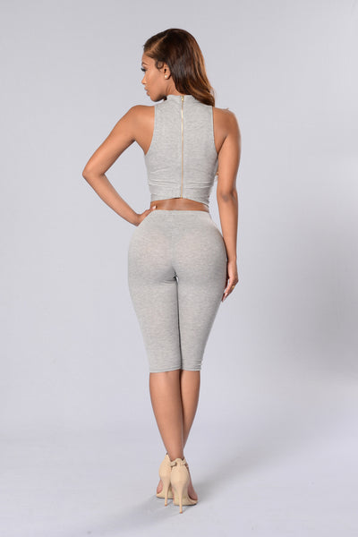 Runaway With Me Top - Heather Grey
