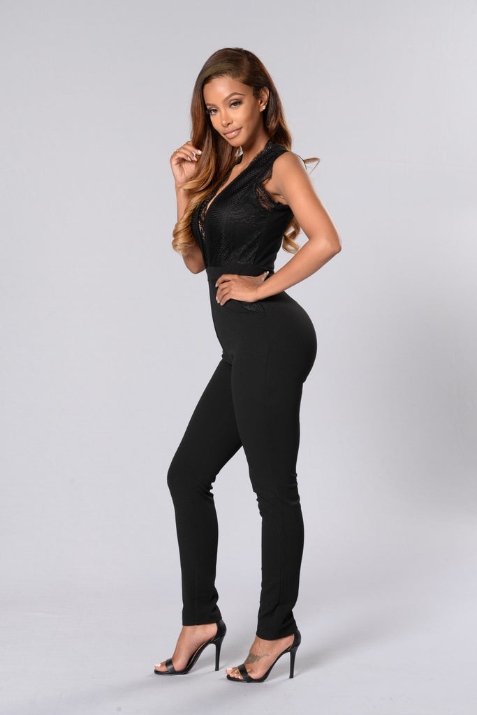 Hostess With The Mostess Jumpsuit - Black