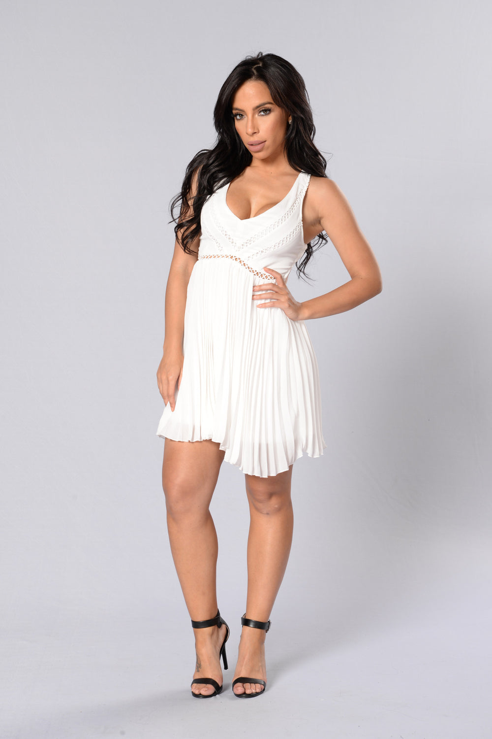 Fine Tune Dress - White