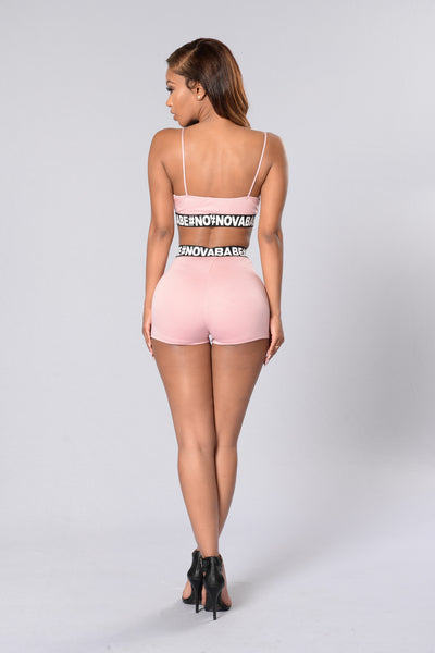 #NOVABABE Shorts - Dusty Pink
