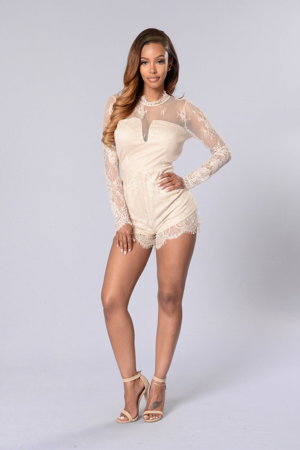 In Your Dreams Romper - Cream