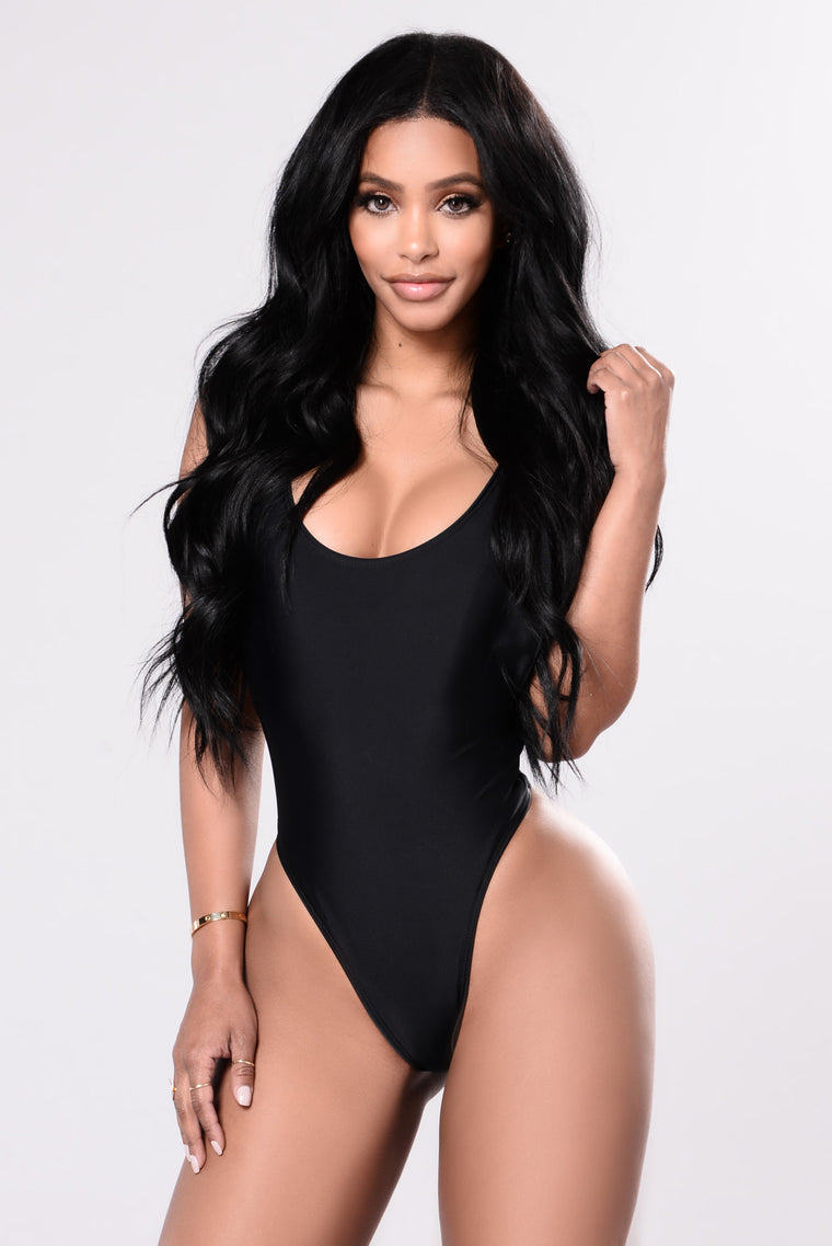 Cut It High Swimsuit - Black