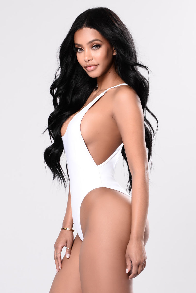 Cut It High Swimsuit - White