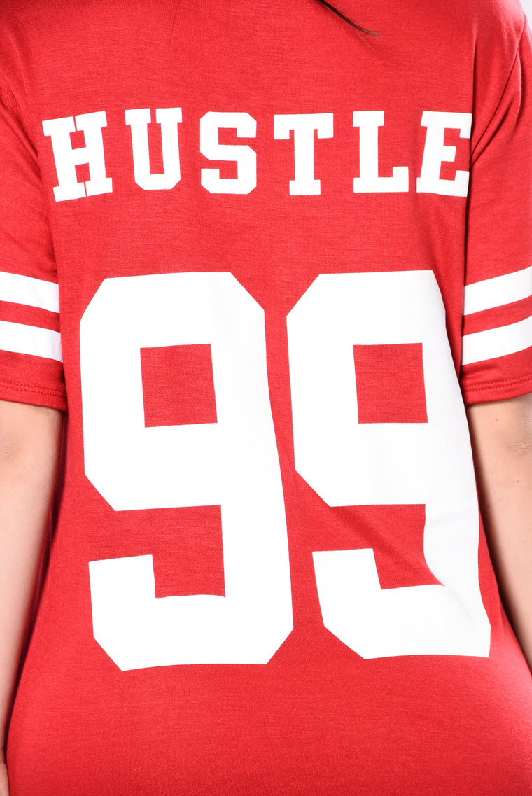 Hustle All Day Tee - Red