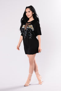 Metal Rock Tee - Black