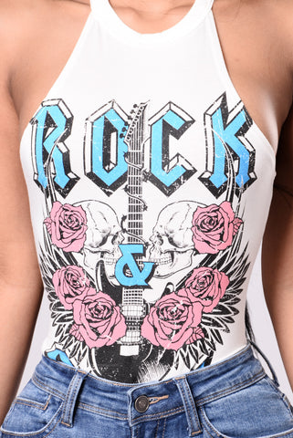 Came To Rock Bodysuit - White