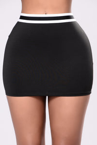 Don't Wanna Hear It Skirt - Black