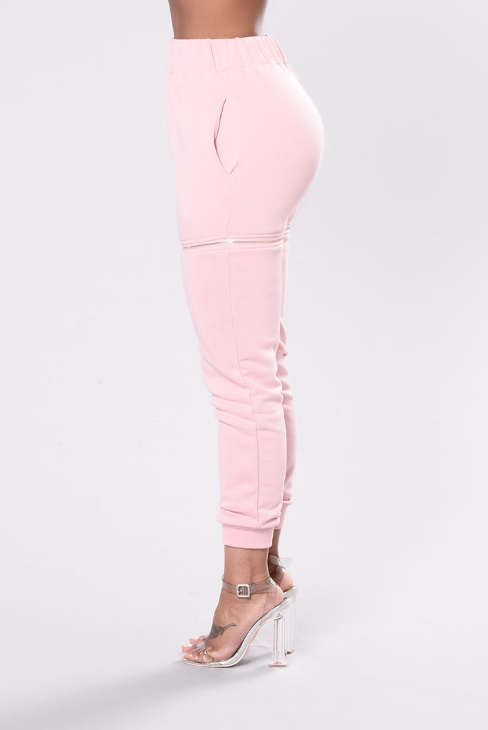 Limited Edition Zipper Jogger - Pink