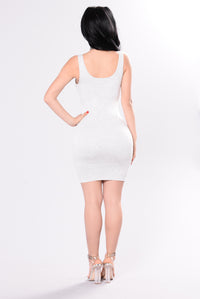 Can't Go Wrong Dress - Heather Grey