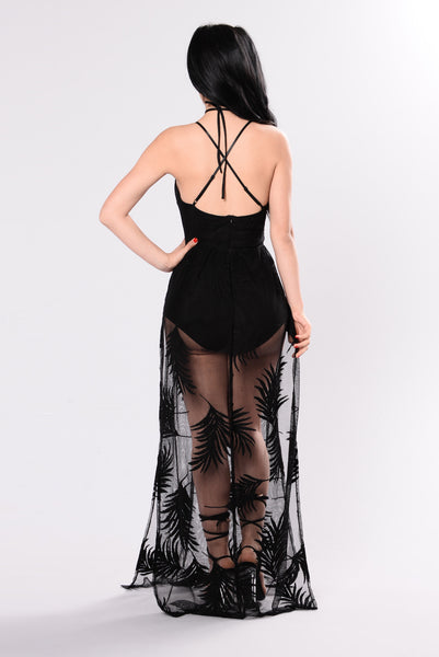 Palm Springs Party Dress - Black