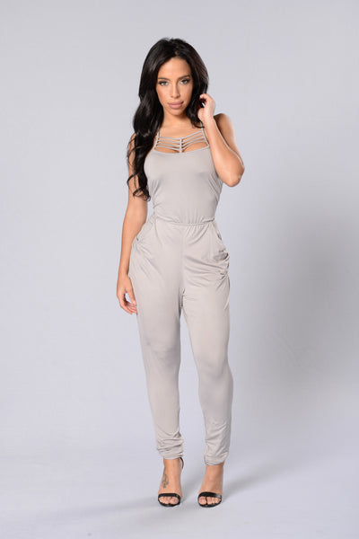 Detention Jumpsuit - Silver