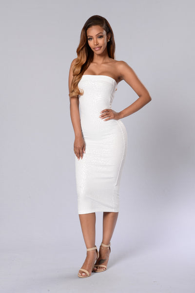 Make My Day Dress - White