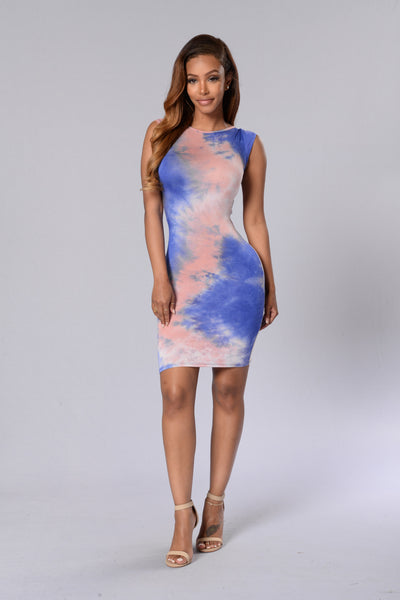 All You Need is Love Dress - Navy/Blush