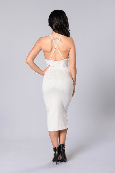 Simply Strappy Dress - Ash Grey