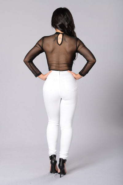 The Way It Is Bodysuit - Black