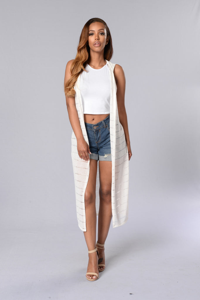 Graceful Flow Cardigan - Ivory