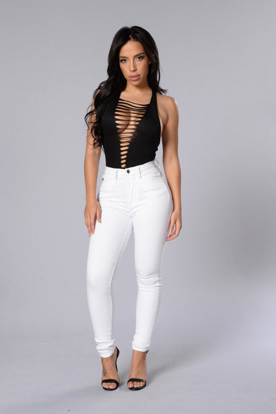 Rip It Off Bodysuit - Black