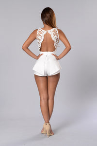 Wavelength Romper - White