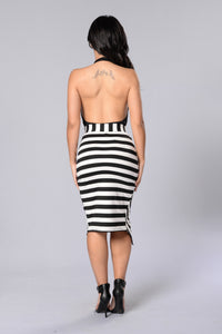 Hard Times Skirt - Black/White