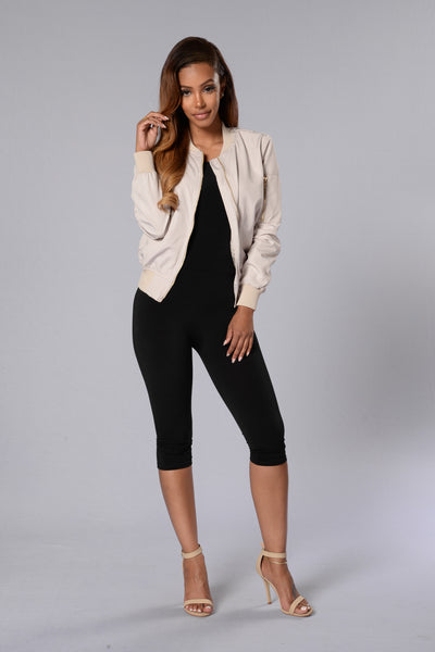 Rock the Boat Jacket - Taupe