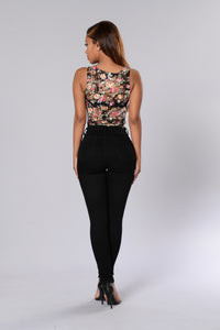 Favorite Fragrance Bodysuit - Black/Pink