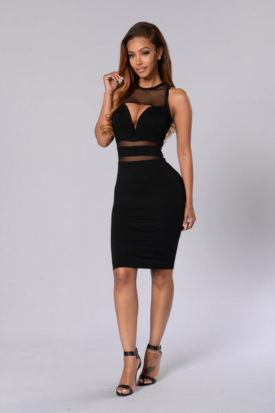 Wired Up Dress - Black