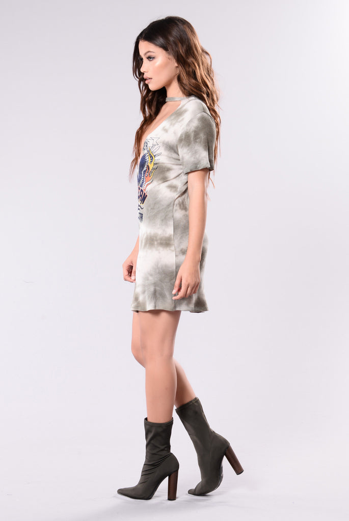 American Rock Star Tunic - Olive