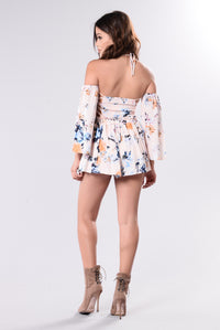 You Wanted A Twist Romper - Peach