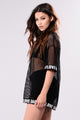 Love Fishnet Tee - Black