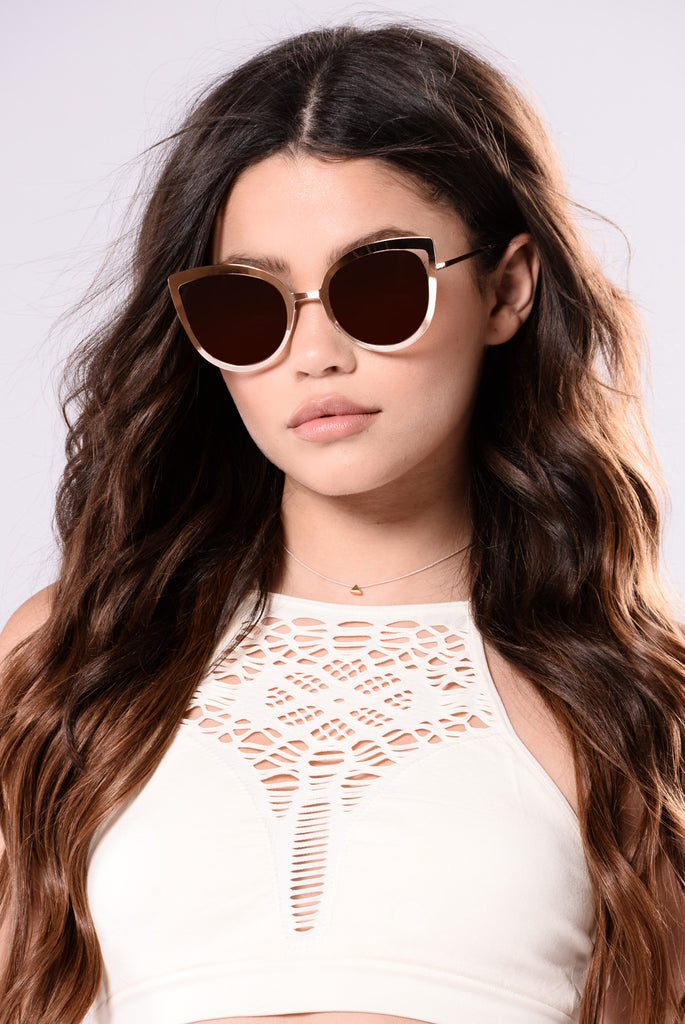 Tiffany Sunglasses - Gold/Brown